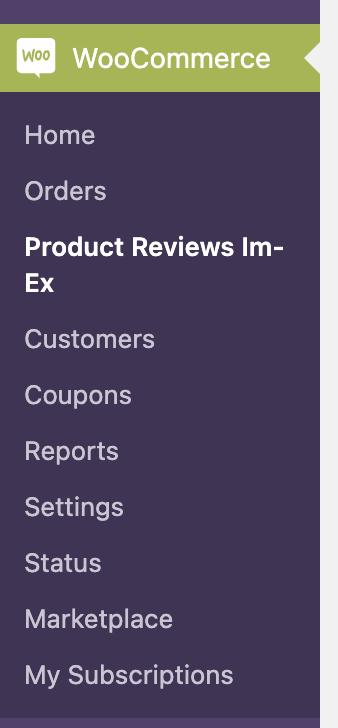 Menu Wordpress Export Avis Client